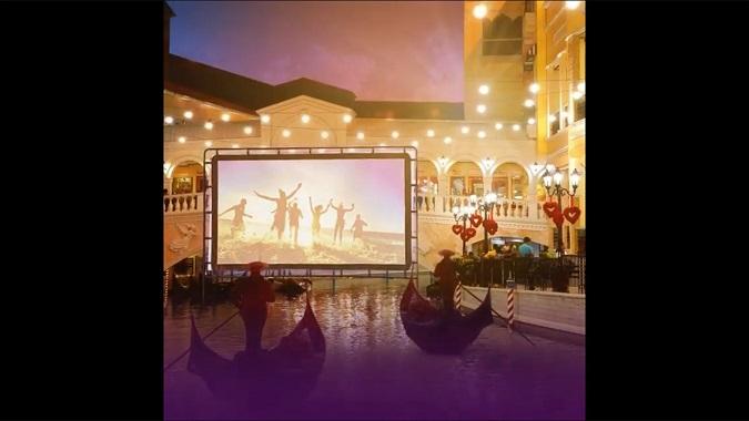 Venice Grand Canal Float in cinema