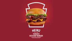 heinz tomato ketchup burger