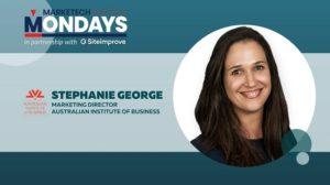 MARKETECH Mondays feat. AIB's marketing director, Stephanie George