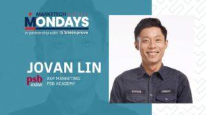 MARKETECH Mondays feat. PSB Academy's assistant VP of marketing, Jovan Lin
