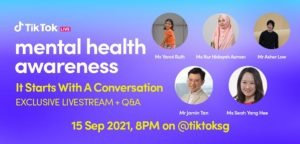 TikTok Singapore launches new live stream for mental health awareness